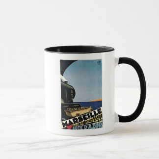 Vintage art deco Marseille railroad ad Mug