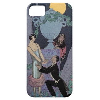 Vintage Art Deco Moonlight Love Triangle iPhone iPhone 5 Cover
