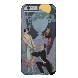 Vintage Art Deco Moonlight Love Triangle iPhone Barely There iPhone 6 Case