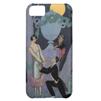 Vintage Art Deco Moonlight Love Triangle iPhone Case For iPhone 5C