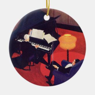 Vintage Art Deco Music Pianist Piano Player Lounge Ceramic Ornament