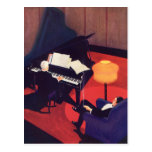 Vintage Art Deco Music Pianist Piano Player Lounge Post Cards