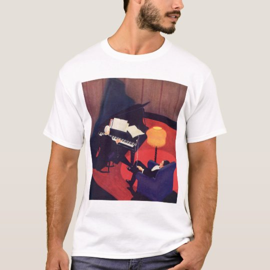 Vintage Art Deco Music Pianist Piano Player Lounge T-Shirt