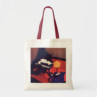 Vintage Art Deco Music Pianist Piano Player Lounge Tote Bag