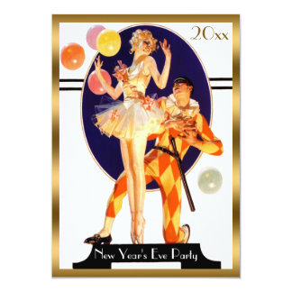 Vintage Art Deco New Year's Eve Party Card