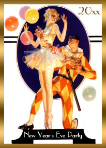 vintage art deco new years eve party invitation