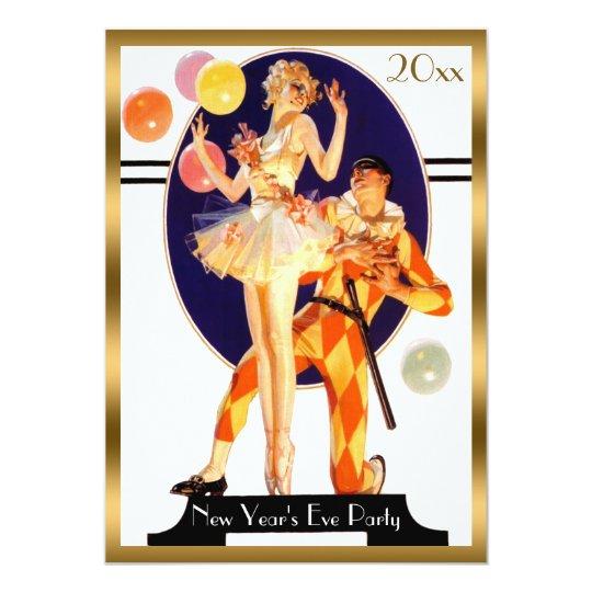 Vintage Art Deco New Year's Eve Party Invitation | Zazzle.com