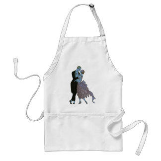 Vintage Art Deco Newlyweds, Love Wedding Dance Adult Apron