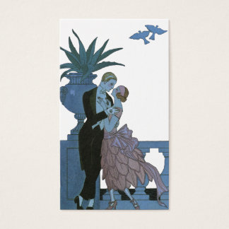 Vintage Art Deco Newlyweds, Love Wedding Dance Business Card