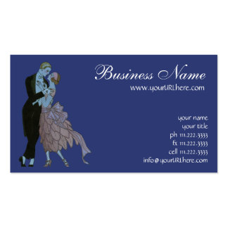 Vintage Art Deco, Newlyweds Love Wedding Dance Double-Sided Standard Business Cards (Pack Of 100)