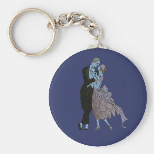 Vintage Art Deco, Newlyweds Love Wedding Dance Keychain