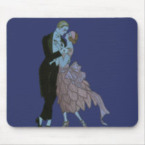Vintage Art Deco Newlyweds, Love Wedding Dance Mouse Pad