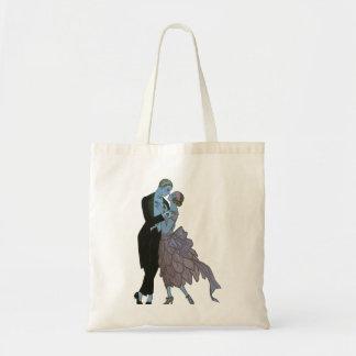 Vintage Art Deco, Newlyweds Love Wedding Dance Tote Bag