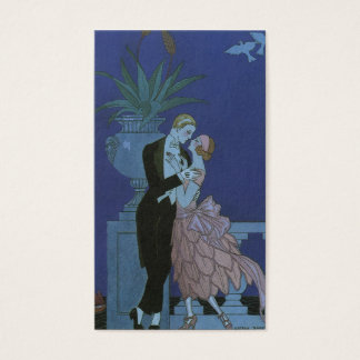 Vintage Art Deco Newlyweds, Oui by George Barbier Business Card