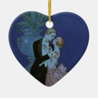 Vintage Art Deco Newlyweds, Oui by George Barbier Ceramic Ornament