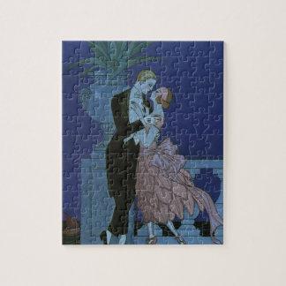 Vintage Art Deco Newlyweds, Oui by George Barbier Jigsaw Puzzle