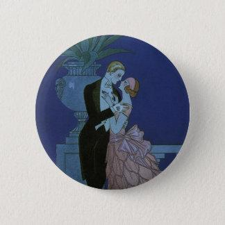 Vintage Art Deco Newlyweds, Oui by George Barbier Pinback Button