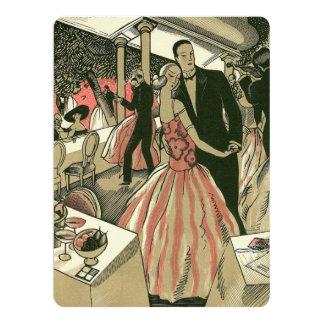 Vintage Art Deco Newlyweds Wedding Invitation
