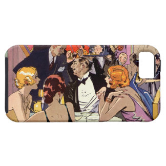 Vintage Art Deco Nightclub Cocktail Party iPhone SE/5/5s Case