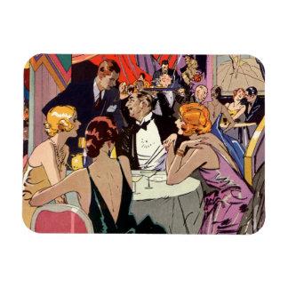 Vintage Art Deco Nightclub Cocktail Party Rectangular Photo Magnet