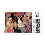 Vintage Art Deco Nightclub Cocktail Party Stamp