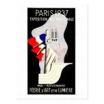 Vintage art deco Paris World expo 1937 Postcards