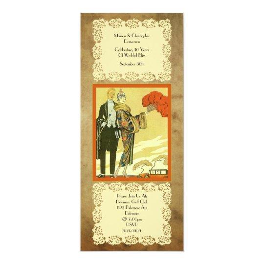 Vintage ~ Art Deco ~  Party Card