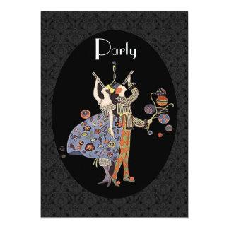 "Vintage Art Deco  Party 5"" X 7"" Invitation Card"