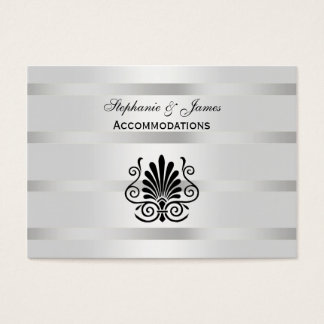 Vintage Art Deco Plume Black White Accommodations Business Card
