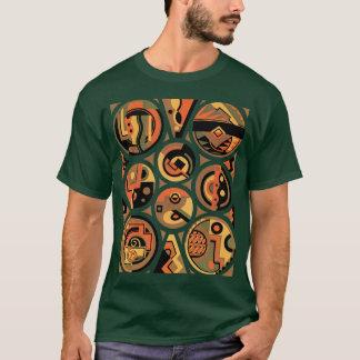 Vintage Art Deco Pochoir Jazz Geometric Circles T-Shirt