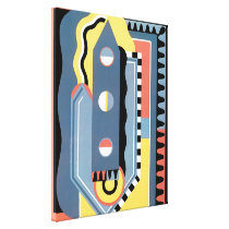 Vintage Art Deco Pochoir Jazz Geometric Patterns Canvas Print