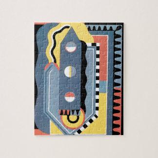 Vintage Art Deco Pochoir Jazz Geometric Patterns Jigsaw Puzzle