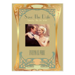 Vintage Art Deco Save The Date ~ Gatsby Inspired Post Cards