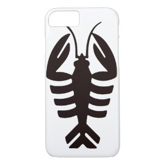 Vintage Art Deco Seafood, Lobster in Black iPhone 7 Case