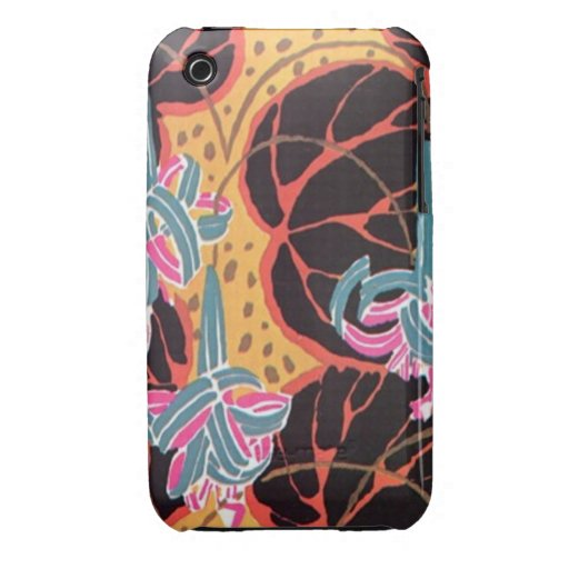 Vintage Art Deco Seguy Fine Art Nature Abstract Case-Mate iPhone 3 Cases