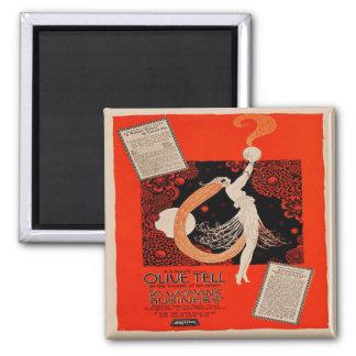 Vintage Art Deco Silent Film Advert Fridge Magnet