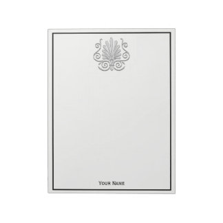 Vintage Art Deco Silver Plume Arabesque Notepad