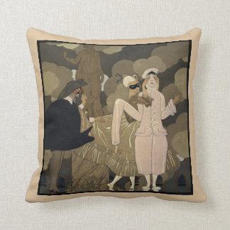 Vintage Art Deco, Surprise by George Barbier Pillow