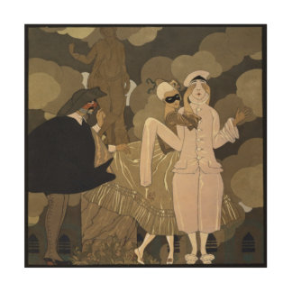 Vintage Art Deco, Surprise by George Barbier Wood Canvases