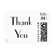 Vintage Art Deco Thank You Wedding Postage Stamp