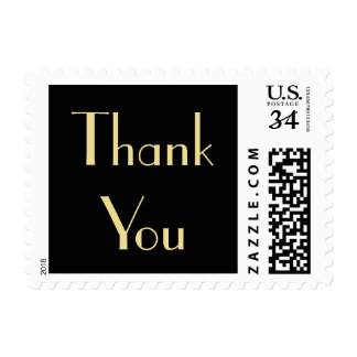 Vintage Art Deco Thank You Wedding Postage Stamp