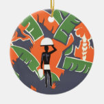Vintage Art Deco Travel Poster, African Jungle Christmas Ornaments