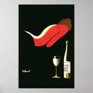 Vintage Art Deco Villemot Vichy St Yorre Poster
