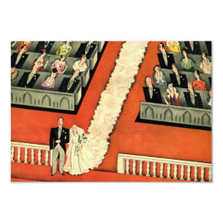 Vintage Art Deco Wedding, Bride Groom Newlyweds Invitation