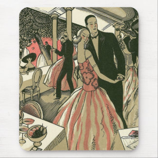 Vintage Art Deco Wedding, Newlyweds First Dance Mouse Pad