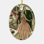 Vintage Art Deco Wedding, Newlyweds First Dance Ornament