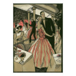 Vintage Art Deco Wedding, Newlyweds First Dance Poster