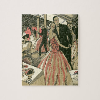Vintage Art Deco Wedding, Newlyweds First Dance Jigsaw Puzzle