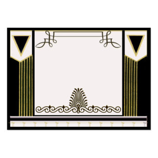 Vintage Art Deco Wedding Place Card Personalized Business Card Templates