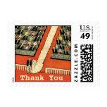 Vintage Art Deco Wedding Thank You Postage Stamp